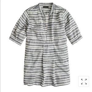 J crew stripe gauze blouse sz s blue white popover